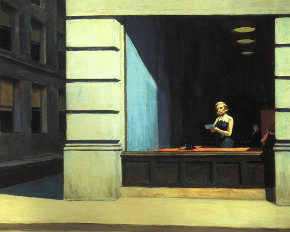 Edward Hopper - Biuro w Nowym Jorku (1962)