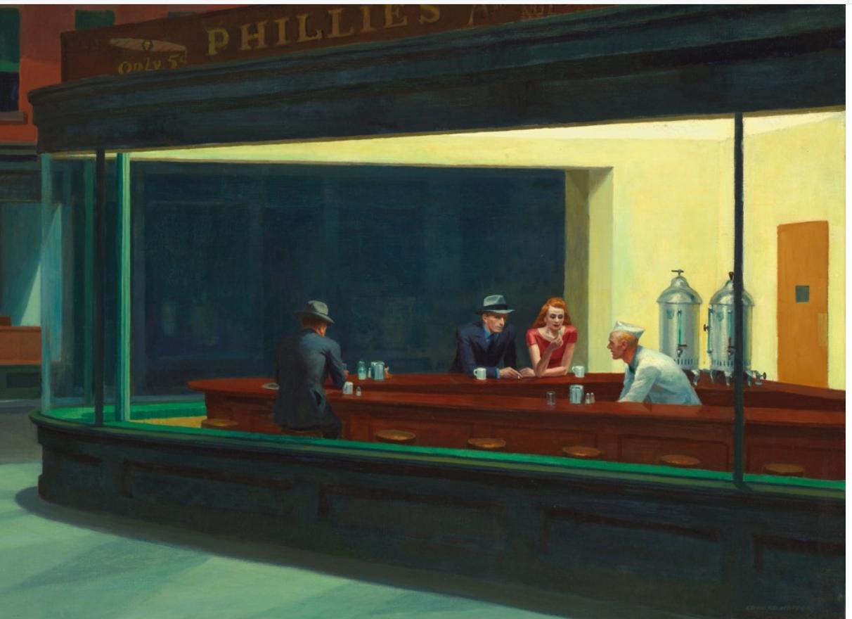 Edward Hopper - Nocne marki [Nocne jastrzębie] (1942)