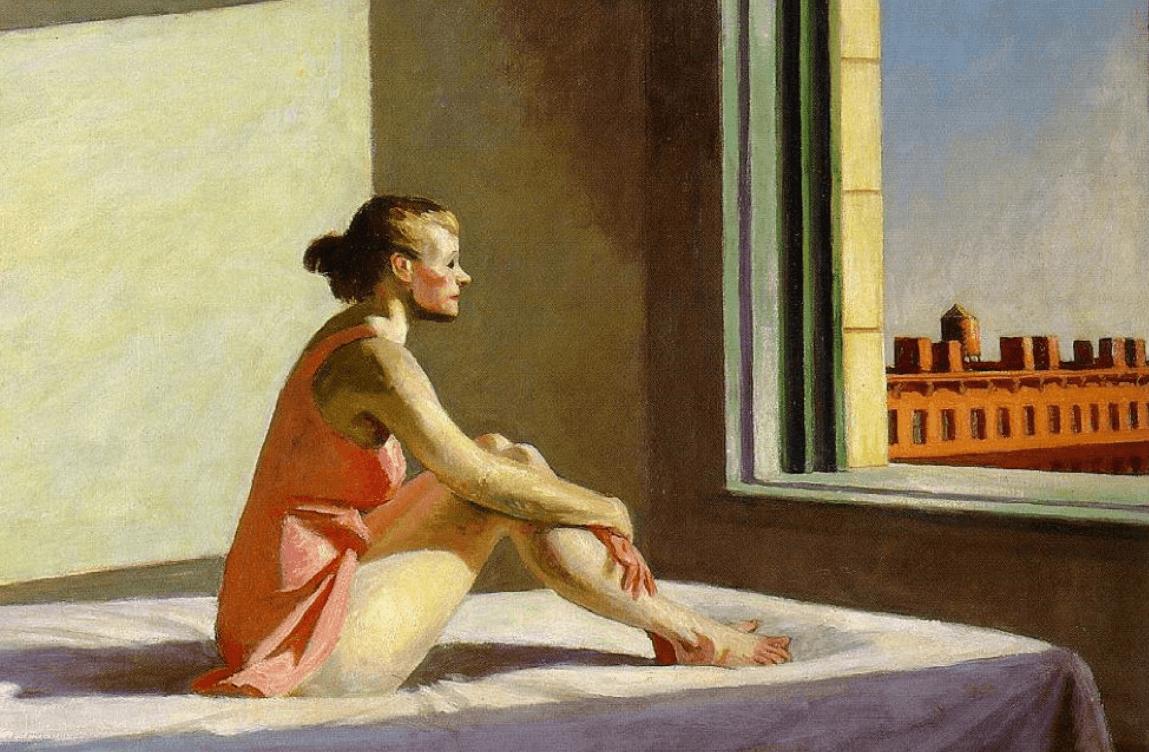 Edward Hopper - Poranne słońce (1952)
