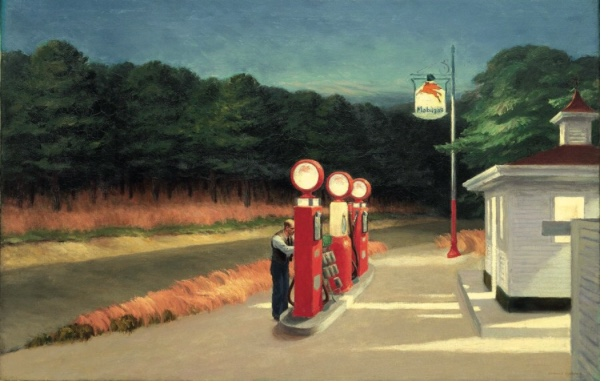 Edward Hopper - Stacja benzynowa (1927)